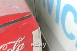 1950's Coca Cola Chest Style Cavalier or Westinghouse COKE Cooler ICE COLD