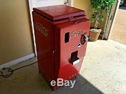 1950's Coca Cola Vending Machine Cooler Cavalier C27 Soda Fountain Sign COKE OLD