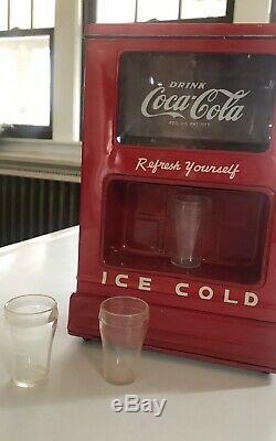 1950s Coca Cola Coke Toy Machine Cooler Dispenser Bank Linemar