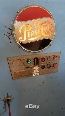 1955 Light Up 72D Pepsi Cola Choice Vend machine Rare UNLISTED