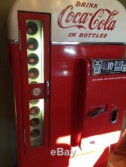 1957 Vendo H81D Coke Machine in excellent complete original working condition