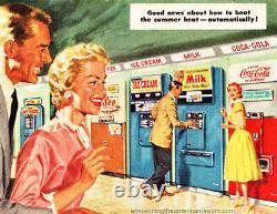1958 Vendo Coke Milk Vending Machine Very Rare Great Origional Machine