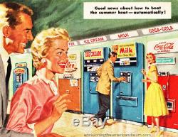 1958 Vendo Coke Milk Vending Machine Very Rare Nice Origional