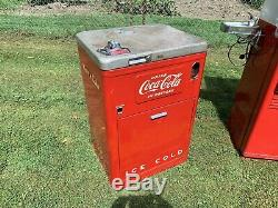 (2) Vintage 1950s Vendo Coca Cola Machines Model A 23B 5K and Model WC-42-T