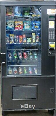 AMS Combination Canned Soda/Snack Vending Machine With Credit Card Reader