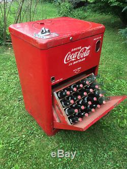 ANTIQUE 1950's VENDO A23E COCA COLA 10 CENT MACHINE/SPIN TOP/2 ELEMENTS/ WORKS