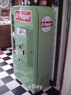 American Icon VMC 81 Dr Pepper Soda Machine Professional Restoration Vendo Coke