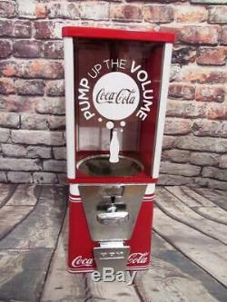 COCA COLA vintage gumball machine M&M dispenser coke memorabilia home decor
