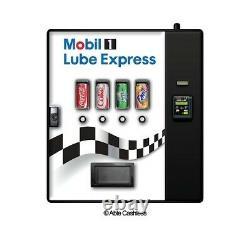 Cashless Cooler Wall Mountable Soda Vending Machine. 4 beverage selections