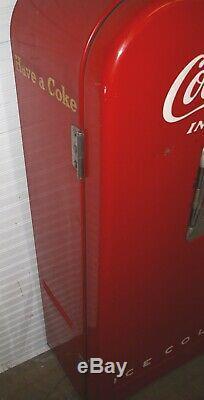 Coca Cola 1951 #39 Red Vendo Bottle Vending Machine Works Original