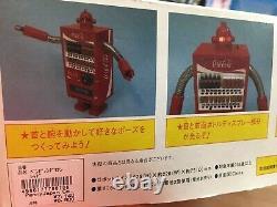 Coca Cola Coke Vending Machine Robot Red Piggy bank Figure 1/8 limited RARE Used