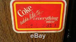 Coca Cola Soda Vintage Original Soda Bottle Vending Machine Vendo 56E 10 oz. BG