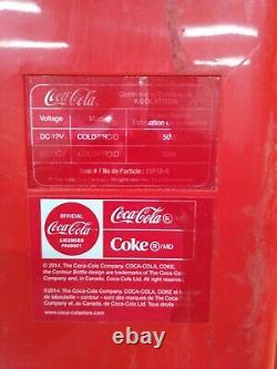 Coca Cola Vending Fridge 10 Can Machine Mini Soda Refrigerator No Power Cables
