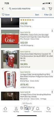 Coca Cola Vending Machine Cavalier 72 1958-1959