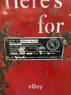 Coca Cola Vendo 39 50's Coke, Soda Pop Vending Machine. For Parts Or Restoration