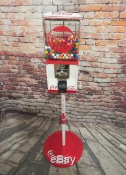 Coca Cola memorabilia vintage glass gumball machine candy dispenser man cave