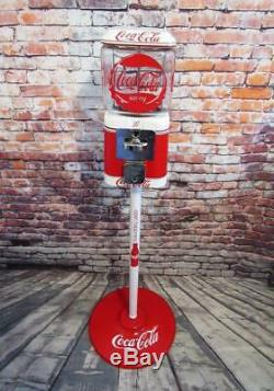 Coca cola memorabilia vintage gumball machine Acorn glass bar decor Coke Gift