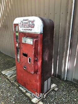 Coke Coca Cola Soda Pop Machine Vendo 81D Restore Original Vending Coin Op