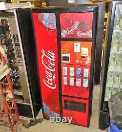 Coke Live/Wave Front Soda Vending Machine Royal 8 Select Multi Price DBA