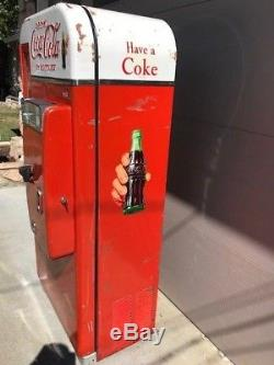 Coke coca cola soda machine vendo 81 D also 110 44 56 Pepsi 7up 1950 Will Ship