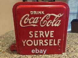 Coke machine vendo rare changer coin mechanism Cover Coca Cola Vending Cooler
