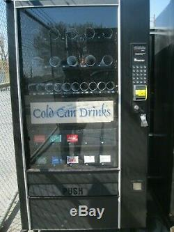 Combination Canned Soda/Snack Vending Machine with credit card reader