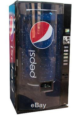 DIXIE NARCO 522 Soda Vending Machine Pepsi Graphic Cans & Bottles FREE SHIPPING