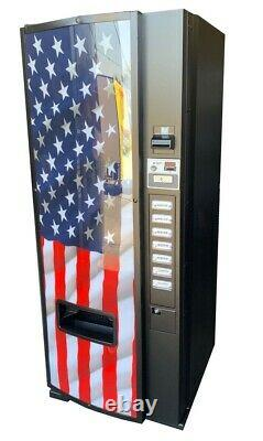Dixie Narco 276E Soda Vending Machine Cans & Bottle Flag Graphic FREE SHIPPING
