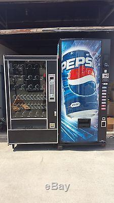 Dixie Narco 440-7 Coke Soda Vending Machine & AP 7000 Snack Vending Machine