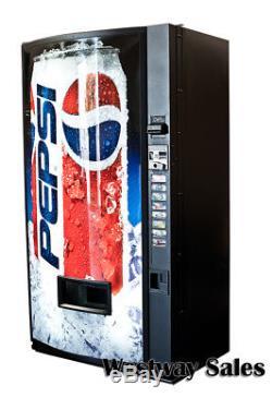 Dixie Narco 440 Single Price Soda Can Vending Machine w Pepsi Graphic