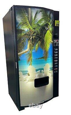Dixie Narco 501E Soda Vending Machine Beach with Nayax CC Reader FREE SHIPPING