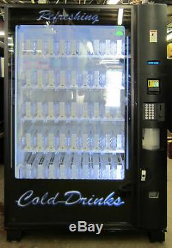 Dixie Narco Bev Max 4 Glass Front soda Vending Machine 5800 used credit card