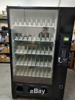 Dixie Narco DN 5591 Glass-Front Bottle-Drop Beverage Vending Machine Soda Water