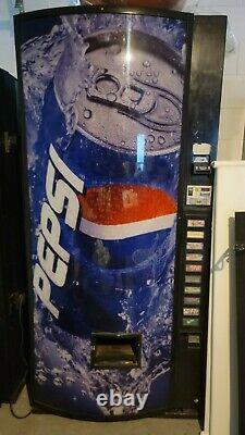 Dixie Narco Pepsi branded soda coke can vending machine Compressor need fix