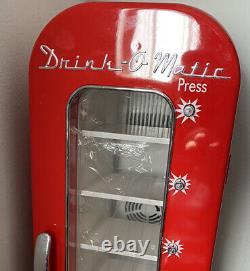Drink o matic Mini Fridge/ Personal Vending Machine Vintage Look