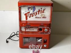 Frostie Root Beer Tabletop Mini Vending Machine Fridge Tested Works with Coins