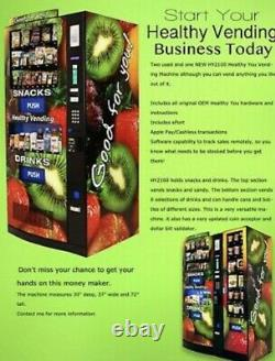 Healthy You Seaga Hy2100 Combo Soda / Snack Vending Machine Entree Barely Used