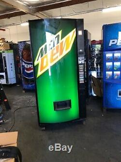 Mountain Dew Vendo 407-8 Soda Vending Machine WithCoin & Bill Acceptor Made In USA