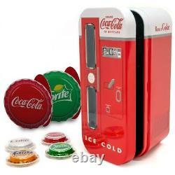 NEW 2020 Coca-Cola VENDING MACHINE (4) $1 Silver Bottle Cap Coins FIJI Coke