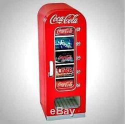 New Koolatron Retro Coca Cola Soda Vending Machine, 10 Can Capacity, Coke Red