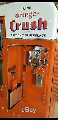 Orange Crush Selectivend Vendo 81 Embossed Coca Cola Coke Pepsi Soda 39 machine