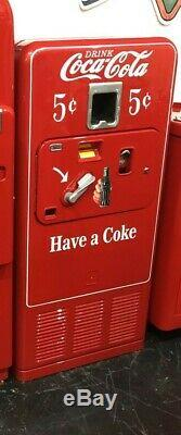 Original 1950's Antique COKE MACHINE Coca Cola RESTORED Coin Op Vending VMC 33
