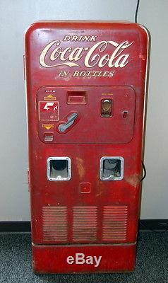 Original 1950s Coca Cola Vendorlator 72 Vending Machine Coke Advertising