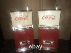 PAIR VINTAGE 1960s COCA COLA VENDING MACHINE WESTINGHOUSE TRANSISTOR RADIOS