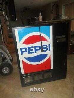PEPSI Wall Mount functioning Coinco 48ct vending machine -very good