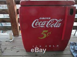 RARE VTG Genuine Coke Coca Cola Machine All Original WORKS, 5 Cent bottles