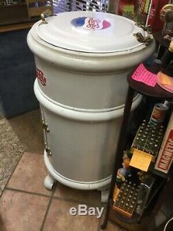 Rare Antique Pepsi Cola Round Ice Soda Box Cooler White Frost