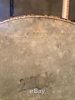 Rare Antique White Frost Metal Ice Box No 321