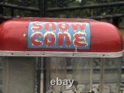 Rare Original 1950s Polar Pete Snow Cone Vending Machine Street Vendor-Carnival