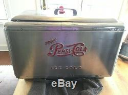 Rare Pepsi Cola Multiplex 3 Faucet Stainless Steel Fountain Dispenser / Cooler